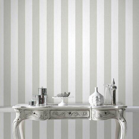 Papier Peint Support Intissé Glitterati Blanc Et Argent