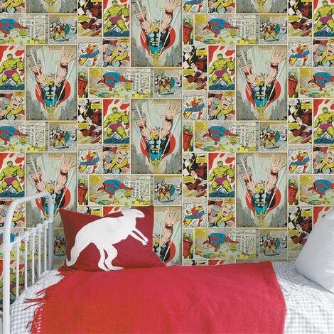 Papier peint support papier BD Duplex Marvel 1005 x 52cm Multicolore