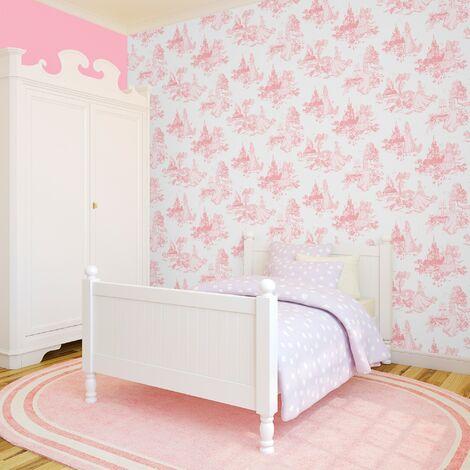"""main image of """"Papier peint support papier Princesse Disney 1005 x 52cm Rose"""""""