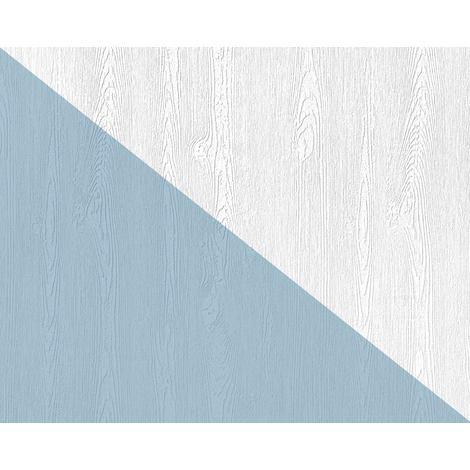 Papier peint texturé EDEM 83005BR60 papier peint intissé texturé à l'aspect de bois mat blanc 26,50 m
