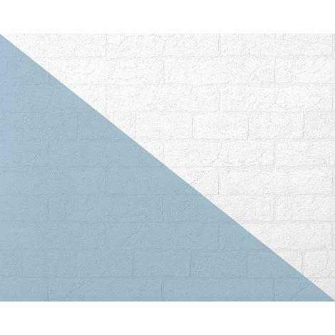 Papier peint texturé EDEM 83101BR70 papier peint intissé texturé à l'aspect de pierre mat blanc 26,50 m