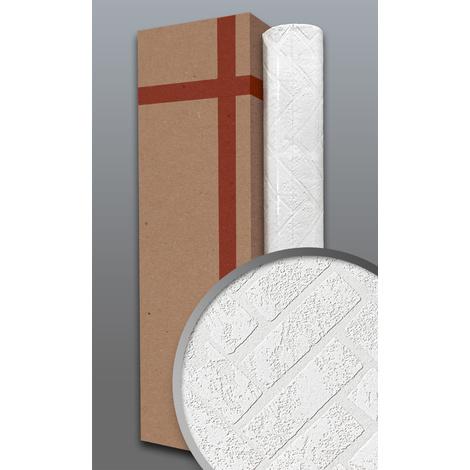 Papier peint texturé EDEM 83102BR70 papier peint intissé texturé à l'aspect de pierre mat blanc 1 carton à 4 rouleaux 106 m2