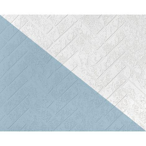 Papier peint texturé EDEM 83102BR70 papier peint intissé texturé à l'aspect de pierre mat blanc 26,50 m
