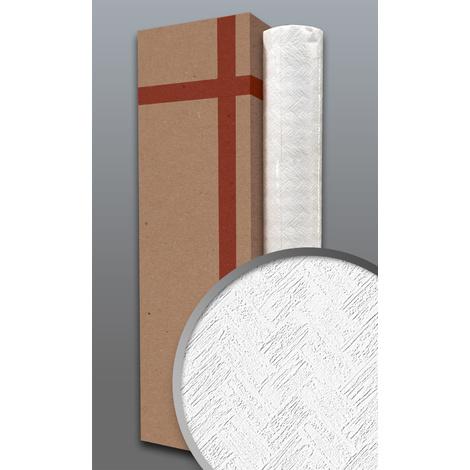 Papier peint texturé EDEM 83103BR70 papier peint intissé texturé à l'aspect de pierre mat blanc 1 carton à 4 rouleaux 106 m2