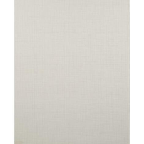 Papier peint unicolor Profhome BV919091-DI papier peint intissé gaufré à chaud texturé unicolor mat crème 5,33 m2