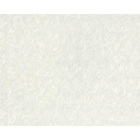 Papier peint unicolore EDEM 9011-30 Papier peint intissé gaufré à l'aspect crépi brillant crème blanc ivoire clair 10,65 m2