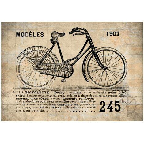 Papier peint - Vélo ancien .Taille : 100x70
