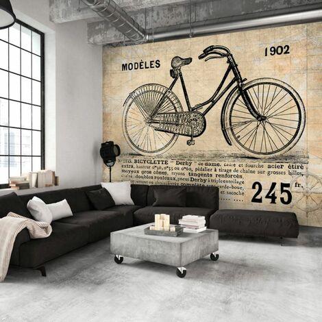 Papier peint - Vélo ancien .Taille : 350x245