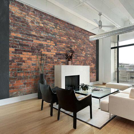 Papier peint - Vintage Wall (Red Brick) 100x70