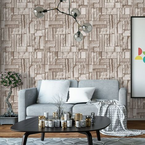 Papier peint Vinyle Mur pierre destructuré