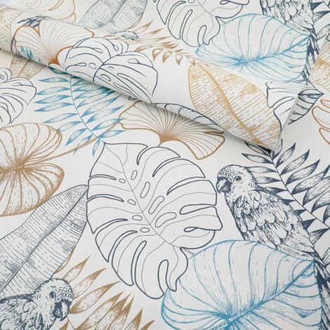 Papier peint vinyle sur intissé - Jungle - Perroquet et végétation exotique - Rouleau(x)