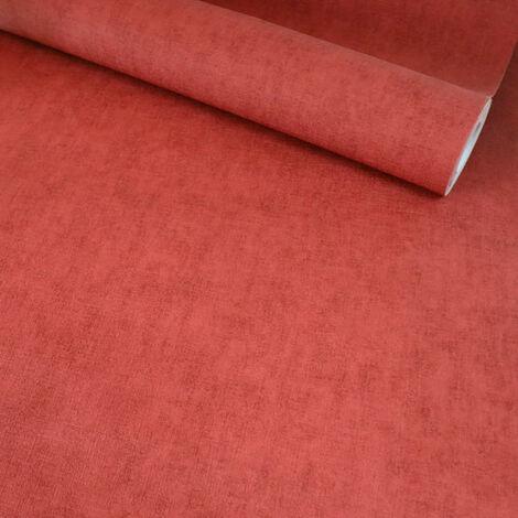 Papier peint vinyle sur intissé - Nature colors - Rouge minéral - Rouleau(x)
