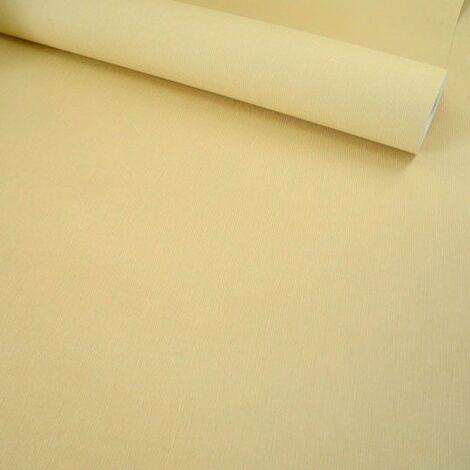 Papier peint vinyle sur intissé - Nature colors - Toile jaune paille - Rouleau(x)