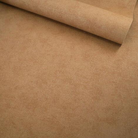 Papier peint vinyle sur intissé - Nature colors - Toile marron terre de sienne - Rouleau(x)