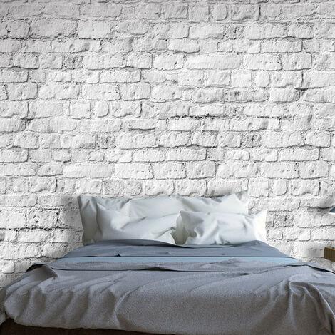 Papier peint - White brick 100x70