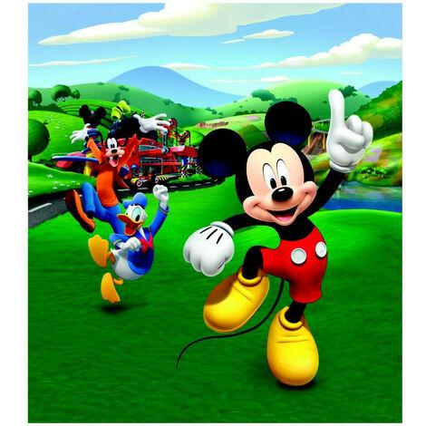 Papier peint XL intisse Mickey Mouse et ses amis Donald et Pluto de Disney 180X202 CM