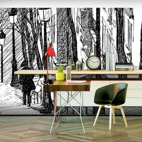 Papier peint XXL - escaliers - Montmartre 550x270