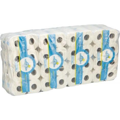 Papier toilette Tissue 3 épai.blanc nat. 64 roul
