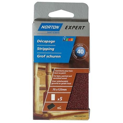Papiers abrasifs auto agrippant pour bois Expert NORTON - plusieurs modèles disponibles