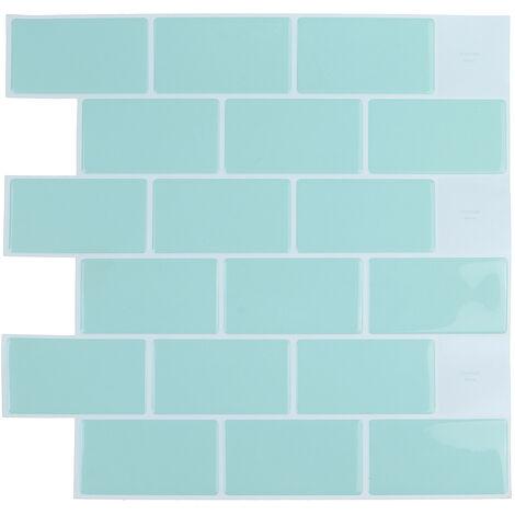 """main image of """"Papiers Peints Auto-Adhésifs Carreaux PVC Stickers Muraux (vert clair, 30.5cm / 12in)"""""""