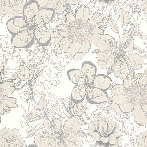 Papier peint pas cher 32798-1 A.S. Création Urban Flowers en ligne