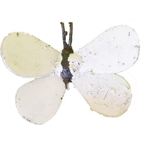 Papillon à fixer en métal recyclé Blanc