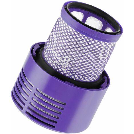 Paquet de 2 filtres de rechange pour aspirateur avec brosse Compatible avec Dyson Cyclone V10 Absolute Animal Motorhead Total Clean, remplace la pièce # 969082-01