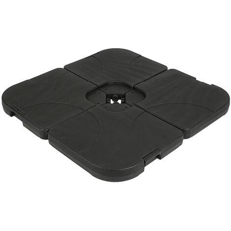 Paquete conveniente de 4 piezas de contrapeso cuadrado para sombrilla 100 * 100 * 7 cm