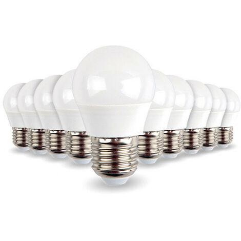 Paquete de 10 bombillas E27 Mini Globe 5.5W 470 lúmenes