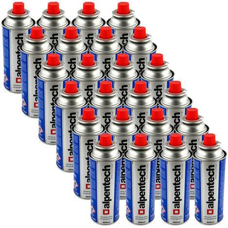 Paquete de 24 cartuchos de gas ALPENTECH 227g botella de gas butano UN2037 para estufas y desbrozadoras
