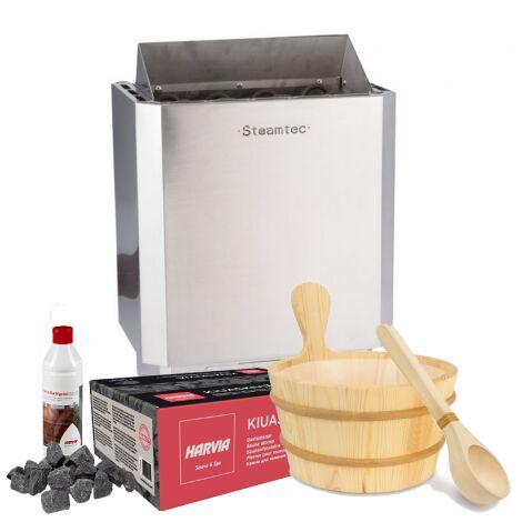 Paquete de 6kw con accesorios cubo + cuchara + piedras + sauna aroma