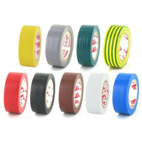 Paquete de 9 colores de cinta de 15 mm de PVC eléctrica Scapa 2702