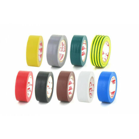 Paquete de 9 colores de cinta de 19 mm de PVC eléctrica Scapa 2702