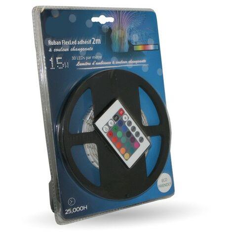 Paquete de cinta led con cambio de color de 2 m