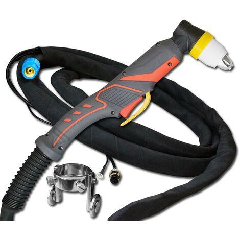 Paquete de manguera de quemador STAHLWERK P80 120A quemador de corte de 8m para cortadoras de plasma con encendido piloto adecuado para los dispositivos CUT 70 / 70 S, CUT 100, CUT 120 /120 S
