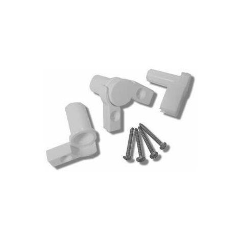 Paquete de reemplazo de bisagras para caja Novellini R01AUD | Blanco