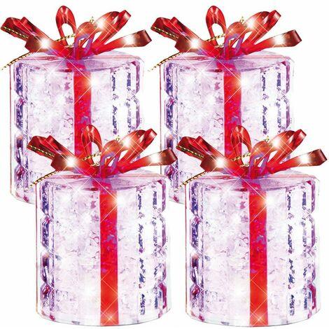 paquetes de regalo decoraciones del árbol del LED en torno al cambio color decoración ESTO 900402 4-SET