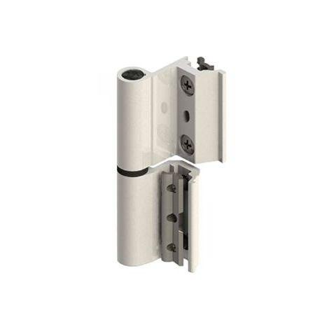 Par Bisagra V2p Eu Aluminio Blanco Derecha