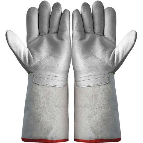 Par de guantes anticongelantes, guantes de trabajo para almacenamiento en frio,gris,45cm(no se puede enviar a Baleares)