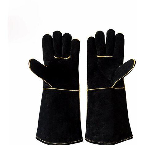 Par de guantes de soldadura con forro resistente al calor LITZEE