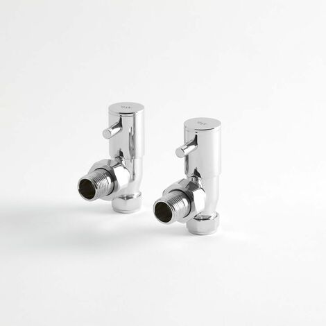 Par de Llaves Angulares Minimalistas para Radiador o Toallero