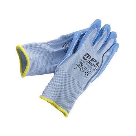 Par guante ny/nitrilo azul alimentario t-8