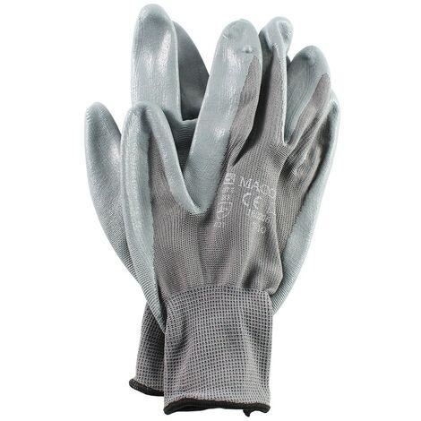 Par guante nylon con nitrilo t9 gris