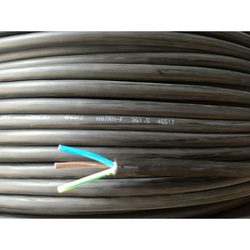 BOBINOT CABLE RIGIDE 25M HO7VU 1,5mm/² JAUNE//VERT