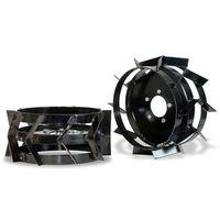 Par ruedas de metal + buje hexagonal motoazadas Garland