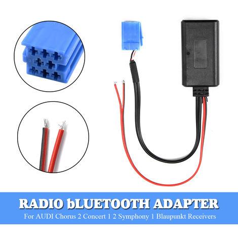 Para AUDIChorus 2 / Concert 1, 2 / Sympho 1 radio para automóvil de Blaupunkt Car WMA, WAV, FLAC Radio Adaptador Bluetooth Cable de audio auxiliar