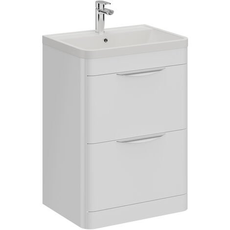 Parade 600mm Vanity Unit Including Polymarble Basin with 1 Tap Hole