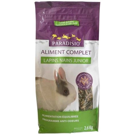 Paradisio - Aliment Complet pour Lapins Nains Junior - 2,6Kg