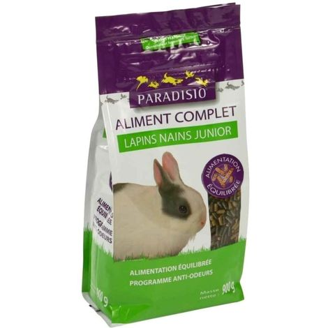 Paradisio - Aliment Complet pour Lapins Nains Junior - 900g