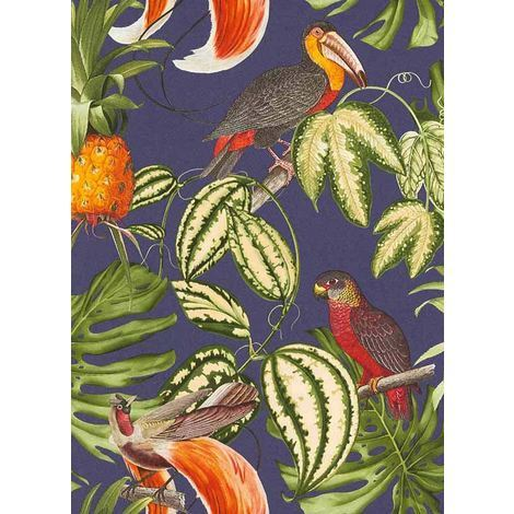 Paradisio Wallpaper Parrot Toucan Tropical Exotic Trees Flower Vinyl Erismann